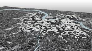 都市周辺の開発に伴って、上空都市も広がっていく