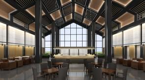 齐齐哈尔扎龙温泉会馆-大堂餐厅室内效果图
