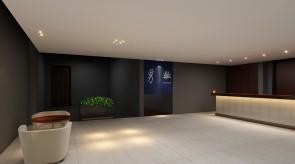 齐齐哈尔扎龙温泉会馆-泡池区入口接待效果图