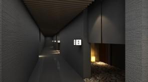 齐齐哈尔扎龙温泉会馆-汤屋走廊效果图