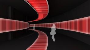 トンネル状のエントランスアクセス