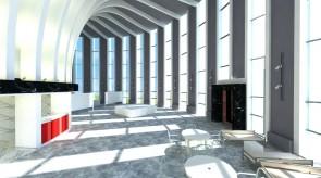 齐齐哈尔扎龙温泉美术厅-室内效果图