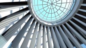 齐齐哈尔扎龙温泉美术厅-屋架天窗效果图