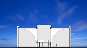 齐齐哈尔扎龙温泉美术厅-剖面图