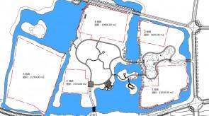 桃花島公園と5つの分散した敷地