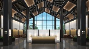 齐齐哈尔扎龙温泉会馆-大堂室内效果图