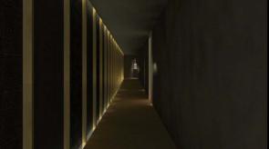 Corridor toward locker room